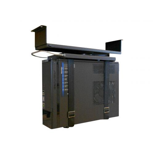 NewStar Under Desk PC Mount (Suitable PC Dimensions -  Height: 0-55 cm / Width: 5-24 cm) - System unit holder - under-desk mountable - black