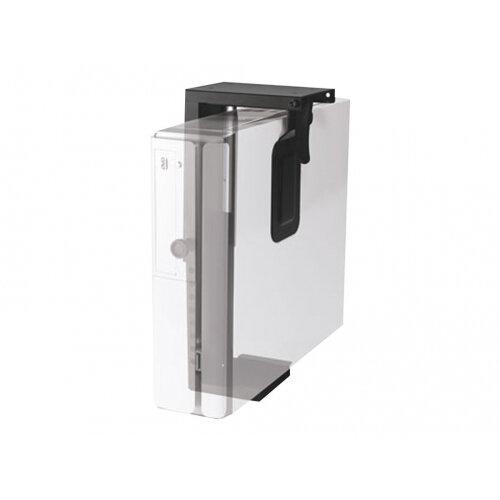NewStar Under Desk PC Mount (Suitable PC Dimensions -  Height: 20-36 cm / Width: 5-10 cm) - Black - System unit holder - under-desk mountable - black