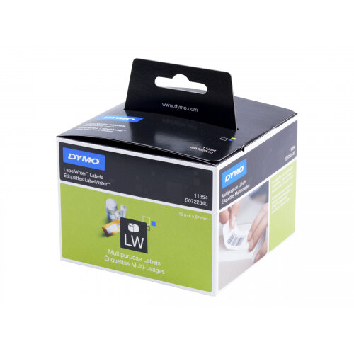 DYMO LabelWriter - White - 57 x 32 mm 1000 label(s) (1 roll(s) x 1000) multi-purpose labels - for DYMO LabelWriter