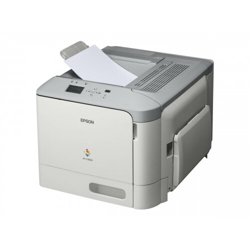Epson AL-C300N - Printer - colour - laser - A4/Legal - 1200 x 1200 dpi - up to 31 ppm (mono) / up to 31 ppm (colour) - capacity: 350 sheets - USB 2.0, Gigabit LAN, USB host
