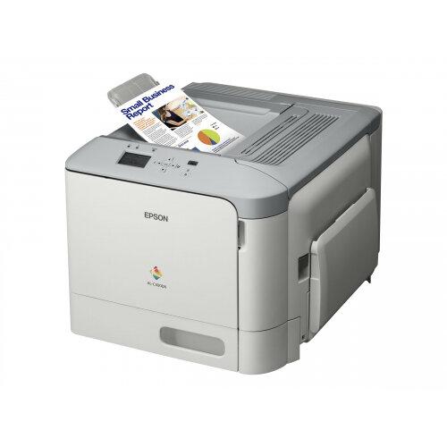 Epson AL-C300DN - Printer - colour - Duplex - laser - A4/Legal - 1200 x 1200 dpi - up to 31 ppm (mono) / up to 31 ppm (colour) - capacity: 350 sheets - USB 2.0, Gigabit LAN, USB host