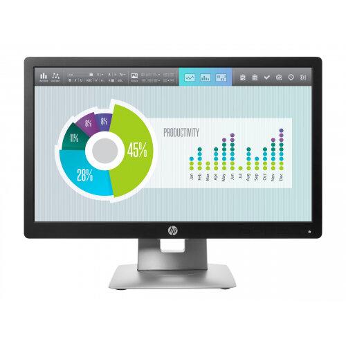 "HP EliteDisplay E202 - LED Computer Monitor - 20"" (20.0"" viewable) - 1600 x 900 - IPS - 250 cd/m² - 1000:1 - 7 ms - HDMI, VGA, DisplayPort - black"
