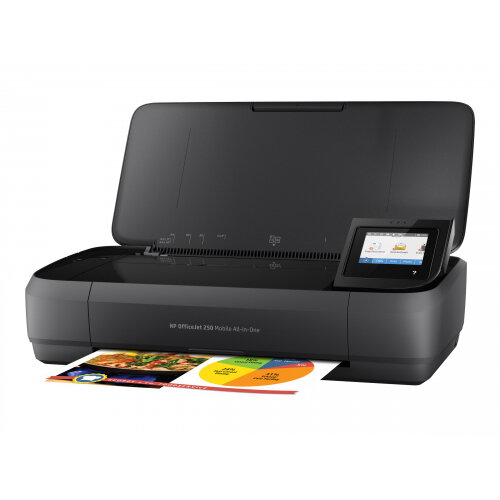 HP Officejet 250 Mobile All-in-One - Multifunction printer - colour - ink-jet - Legal (216 x 356 mm) (original) - A4/Legal (media) - up to 18 ppm (copying) - up to 20 ppm (printing) - 50 sheets - USB 2.0, USB host, Wi-Fi