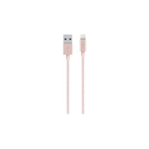 Belkin MIXIT Metallic Lightning to USB Cable - Lightning cable - USB (M) to Lightning (M) - 1.2 m - rose gold - for Apple iPad/iPhone/iPod (Lightning)