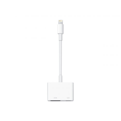 Apple Lightning Digital AV Adapter - Lightning cable - Lightning (M) to HDMI, Lightning (F) - for Apple iPad/iPhone/iPod (Lightning)