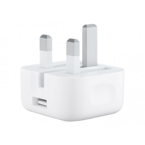 Apple USB Power Adapter (Folding Pins) - Power adapter - 5 Watt (USB) - Hong Kong, Malaysia, Singapore, United Kingdom, Ireland - for Apple iPad/iPhone/iPod