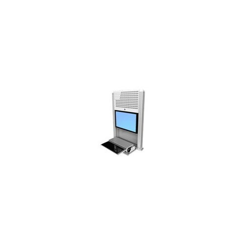 "Ergotron StyleView Sit-Stand Enclosure - Cabinet unit for LCD display / keyboard / mouse / CPU - bright white - screen size: 22"" - wall-mountable"