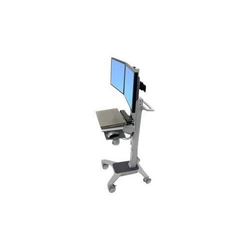 Ergotron Neo-Flex Dual WideView WorkSpace - Cart for LCD display / keyboard / mouse / CPU - plastic, aluminium, steel - two-tone grey - screen size: up to 22""