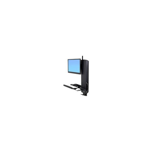 Ergotron StyleView Sit-Stand Vertical Lift, High Traffic Area - Wall mount for LCD display / keyboard / mouse - black - screen size: 24""
