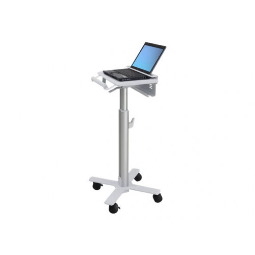 """Ergotron StyleView Laptop Cart, SV10 - Cart for notebook - medical - metal - white, aluminium - screen size: up to 17"""""""