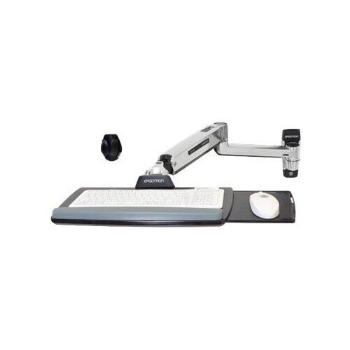 Ergotron LX Sit-Stand Wall Mount Keyboard Arm - Wall mount for keyboard / mouse - aluminium - polished aluminium - for P/N: 45-353-026