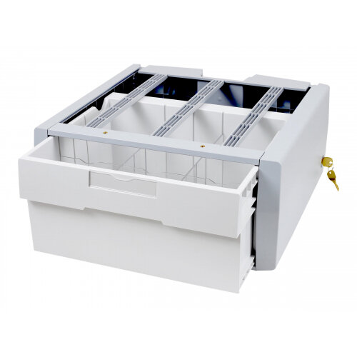 Ergotron StyleView Supplemental Storage Drawer, Single Tall - Mounting component (sliding drawer) for cart - lockable - grey, white