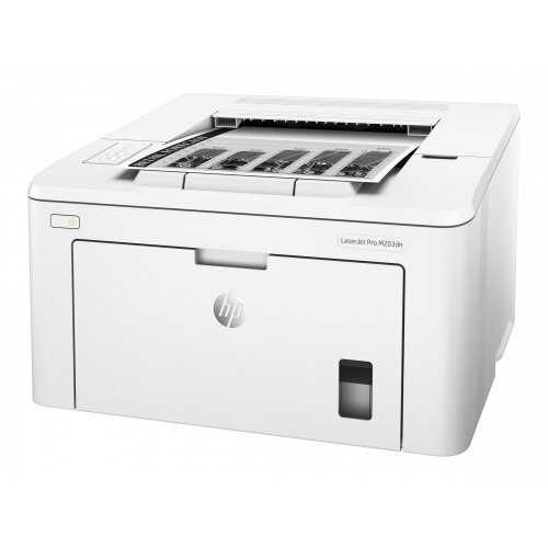HP LaserJet Pro M203dn - Printer - monochrome - Duplex - laser - A4/Legal - 1200 x 1200 dpi - up to 28 ppm - capacity: 260 sheets - USB 2.0, LAN