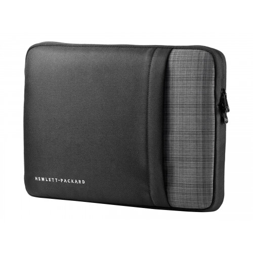 """HP Ultrabook Sleeve - Notebook sleeve - 14"""" - solid black with grey plaid accents - for Chromebook x360; EliteBook 1040 G4, 725 G4, 745 G4, 820 G4, 840 G4; Stream Pro 11 G4"""