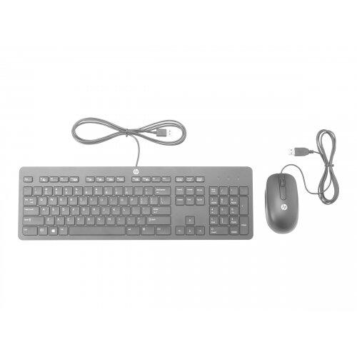 HP Slim - Keyboard and mouse set - USB - UK layout - for HP 245 G6, 25X G6; Chromebook x360; Stream Pro 11 G4, 14 G3; ZBook 14u G4, Studio G4
