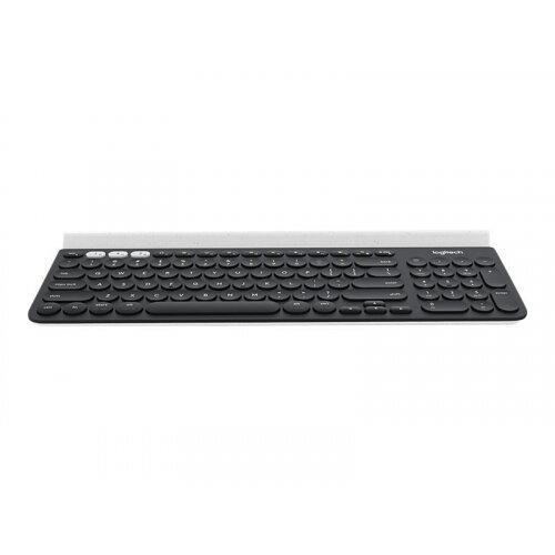 Logitech K780 Multi-Device - Keyboard - Bluetooth, 2.4 GHz - UK English - white