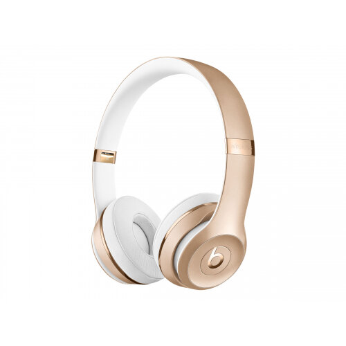 Beats Solo3 - Headphones with mic - on-ear - Bluetooth - wireless - gold - for 10.5-inch iPad Pro; 12.9-inch iPad Pro; 9.7-inch iPad (5th generation, 6th generation); iPad Air; iPad Air 2; iPad mini 2; 3; 4; iPhone 5, 5c, 5s, 6, 6 Plus, 6s, 6s Plus, 7, 7