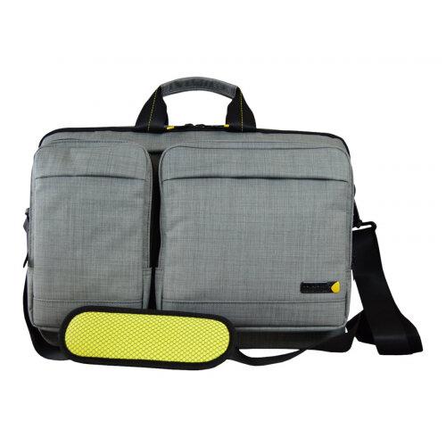"Tech air EVO Magnetic Laptop Shoulder Bag - Notebook carrying case - Laptop Bag - 15.6"" - grey texturised"
