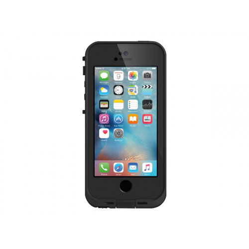 LifeProof Fre for iPhone 5/5s/SE - Protective case for mobile phone - black - for Apple iPhone 5, 5s, SE