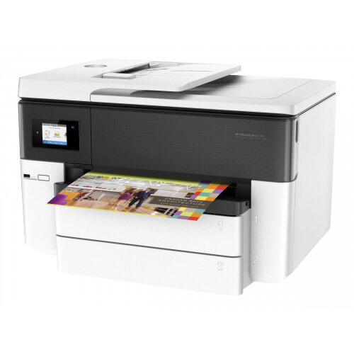 HP Officejet Pro 7740 All-in-One - Multifunction printer - colour - ink-jet - A3/Ledger (297 x 432 mm) (original) - A3 (media) - up to 33 ppm (copying) - up to 34 ppm (printing) - 250 sheets - 33.6 Kbps - USB 2.0, LAN, Wi-Fi(n), USB host