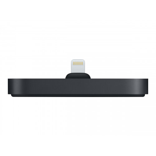 Apple Dock - Charging stand - 2 output connectors (stereo mini jack, Lightning) - black - for Apple iPhone/iPod (Lightning)
