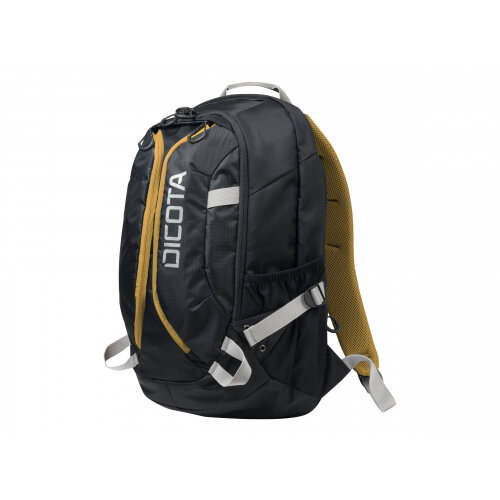 "Dicota Active Laptop Bag 15.6"" - Notebook carrying backpack - 15.6"" - black, yellow"