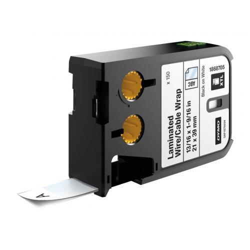 DYMO XTL - Vinyl - permanent adhesive - black on white - 21 x 39 mm 150 label(s) tape - for XTL 300, 500