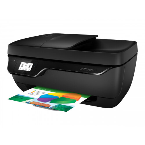 HP Officejet 3831 All-in-One - Multifunction printer - colour - ink-jet - 216 x 297 mm (original) - A4/Legal (media) - up to 7 ppm (copying) - up to 20 ppm (printing) - 60 sheets - USB 2.0, Wi-Fi(n)