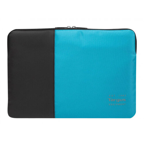 "Targus Pulse - Notebook sleeve - 15.6"" - black, atoll blue"