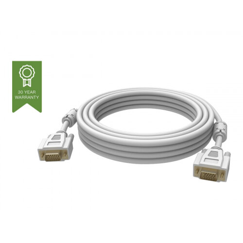 Vision Techconnect - VGA cable - HD-15 (M) to HD-15 (M) - 1 m - thumbscrews - white