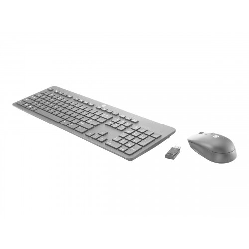HP Slim - Keyboard and mouse set - wireless - 2.4 GHz - UK layout - for HP 245 G6, 25X G6; Chromebook x360; Pro Tablet 610 G1; Stream Pro 11 G4; ZBook Studio G4