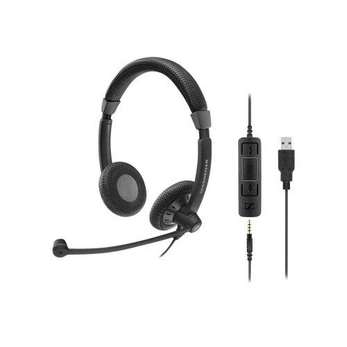 Sennheiser SC 75 USB MS - Culture Plus Mobile - headset - on-ear - wired - black