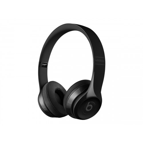 Beats Solo3 - Headphones with mic - on-ear - Bluetooth - wireless - gloss black - for 10.5-inch iPad Pro; 12.9-inch iPad Pro; 9.7-inch iPad (5th generation, 6th generation); iPad Air; iPad Air 2; iPad mini 2; 3; 4; iPhone 5, 5c, 5s, 6, 6 Plus, 6s, 6s Plus