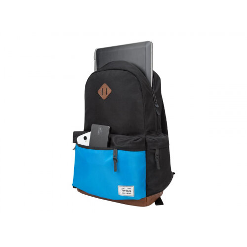"Targus Strata - Notebook carrying backpack - 15.6"" - black, blue"