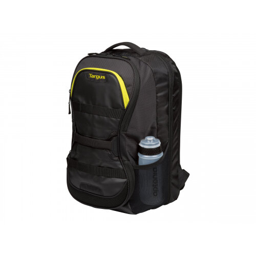 "Targus Work + Play Fitness - Notebook carrying backpack - 15.6"" - black, yellow"