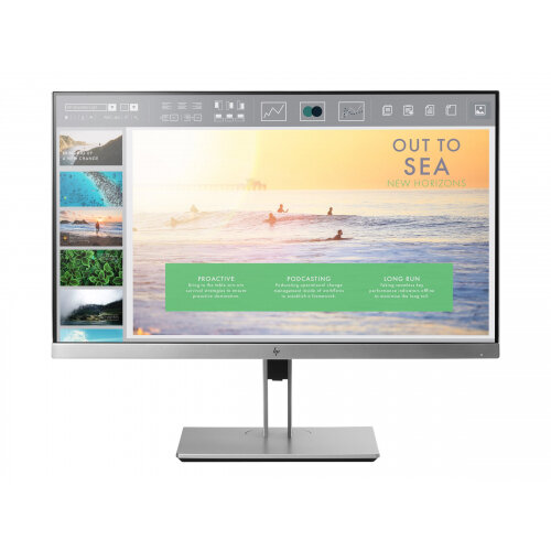 "HP EliteDisplay E233 - LED Computer Monitor - 23"" - 1920 x 1080 Full HD (1080p) - IPS - 250 cd/m² - 1000:1 - 5 ms - HDMI, VGA, DisplayPort"