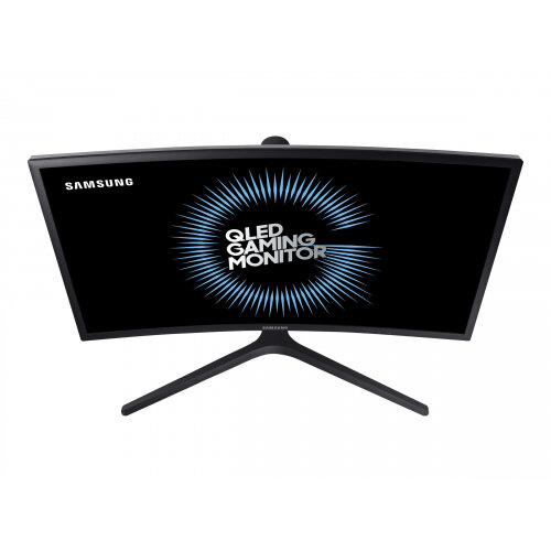 "Samsung CFG7 Series C27FG73FQU - QLED Computer Monitor - curved - 27"" (27"" viewable) - 1920 x 1080 Full HD (1080p) - VA - 350 cd/m² - 3000:1 - 1 ms - 2xHDMI, DisplayPort - matte dark blue black"