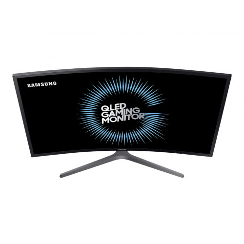"Samsung CHG7 Series C27HG70QQU - QLED Computer Monitor - curved - 27"" (26.9"" viewable) - 2560 x 1440 Ultra WQHD - VA - 600 cd/m² - 3000:1 - 1 ms - 2xHDMI, DisplayPort - matte dark blue grey"