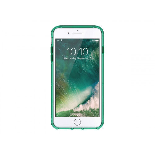 Griffin Survivor Clear - Back cover for mobile phone - polycarbonate, thermoplastic polyurethane - green - for Apple iPhone 6 Plus, 6s Plus, 7 Plus