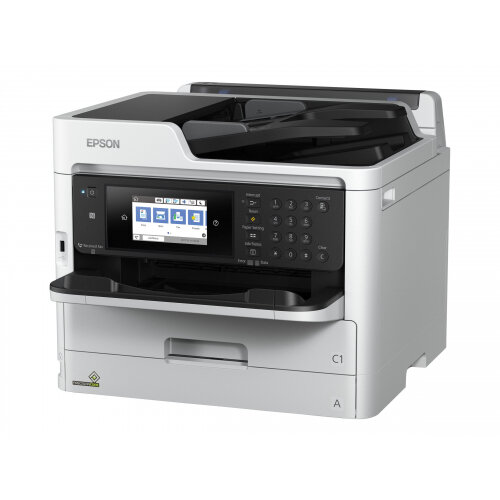Epson WorkForce Pro WF-C5790DWF - Multifunction printer - colour - ink-jet - Legal (216 x 356 mm) (original) - A4/Legal (media) - up to 22 ppm (copying) - up to 34 ppm (printing) - 330 sheets - 33.6 Kbps - USB 2.0, Gigabit LAN, Wi-Fi(n), USB host, NFC