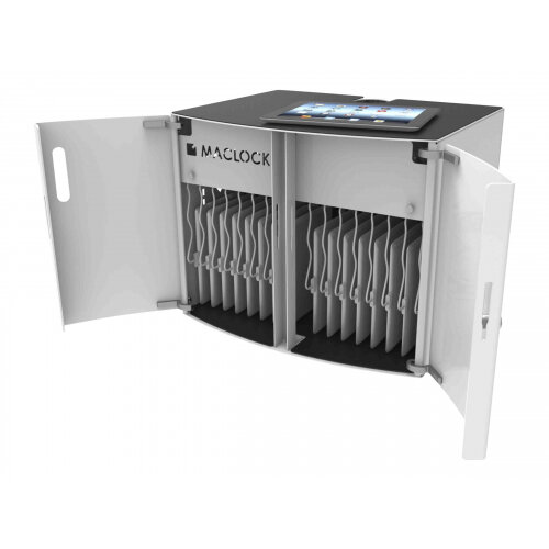 """Compulocks CartiPad Solo - Cabinet unit for 16 netbooks/tablets - lockable - screen size: up to 13"""" - wall-mountable, cart mountable"""