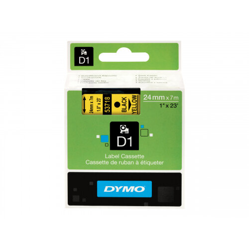 DYMO D1 - Self-adhesive - black on yellow - Roll (2.4 cm x 7 m) 1 roll(s) label tape - for LabelMANAGER 500TS, PnP