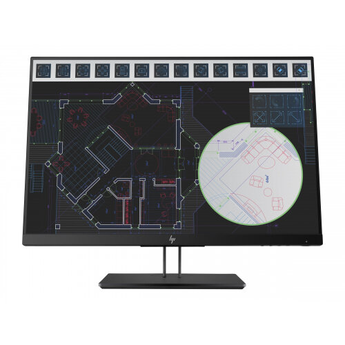 "HP Z Display Z24i G2 - LED Computer Monitor - 24"" (24"" viewable) - 1920 x 1200 WUXGA - IPS - 300 cd/m² - 1000:1 - 5 ms - HDMI, VGA, DisplayPort - die-cast aluminium base with black pearl paint"