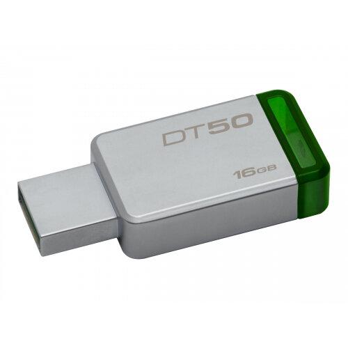 Kingston DataTraveler 50 - USB flash drive - 16 GB - USB 3.1 - green