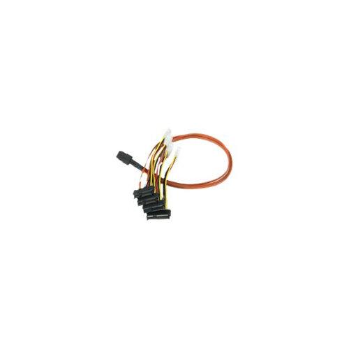 LSI - SAS internal cable - 4-Lane - 4 PIN internal power, 36 pin 4i Mini MultiLane (M) to 29 pin internal SAS (SFF-8482) (F) - 60 cm
