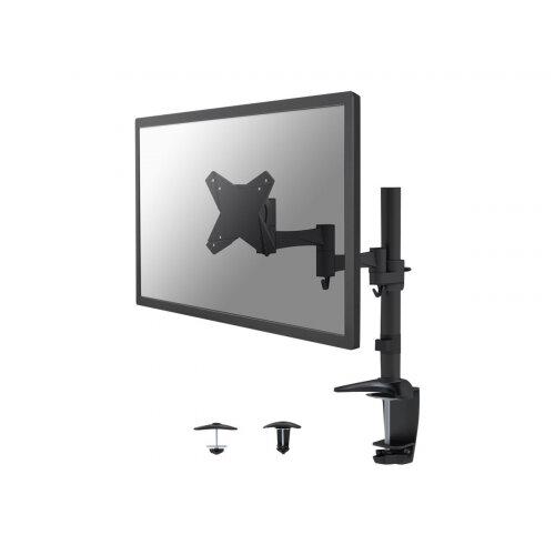 "NewStar Full Motion Desk Mount (clamp &grommet) for 10-30"" Monitor Screen, Height Adjustable - Black - Desk mount for LCD display - black - screen size: 10""-30"""