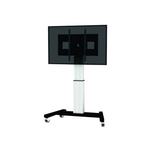 """NewStar Motorized (Height Adjustable) Mobile Floor Stand for 42-100"""" Screen, Silver - Cart for LCD / plasma panel / media player / mini PC (motorised) - silver - screen size: 42""""-100"""""""