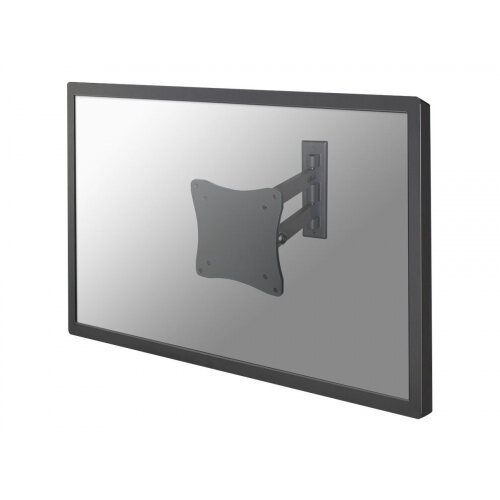"NewStar TV/Monitor Wall Mount (2 pivots &tiltable) for 10""-27"" Screen - Silver - Wall mount for LCD display (Tilt &Swivel) - silver - screen size: 10""-27"""