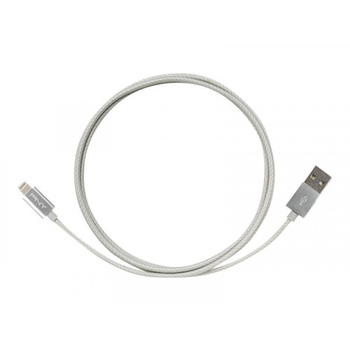 PNY - Lightning cable - USB (M) to Lightning (M) - 1.2 m - silver - for Apple iPad/iPhone/iPod (Lightning)