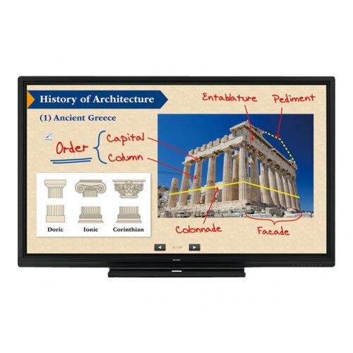 "Sharp BIG PAD PN-70SC5 - 70"" Class LED display - interactive communication - with touchscreen - 1080p (Full HD) 1920 x 1080 - edge-lit - black"